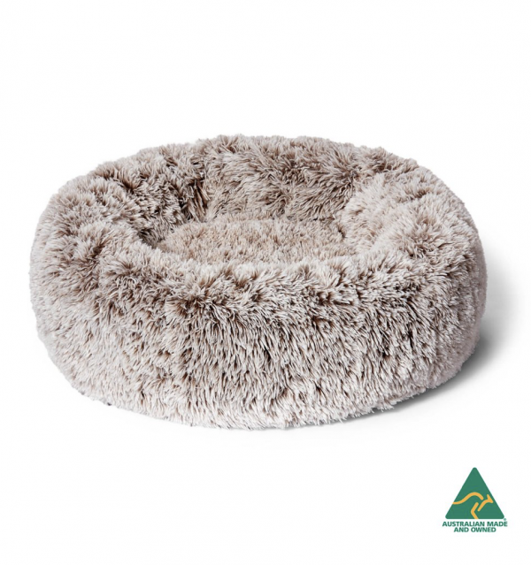 Monte & Co | Designer Shimmering Mink Luxury Dog Bed Calming Cuddler by Snooza Pets Australia