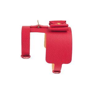 Moshiqa Red Bijou Leather Dog Cat Harness