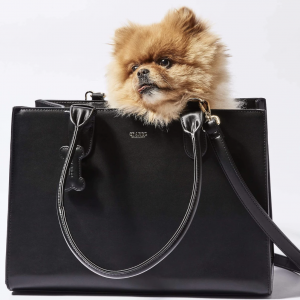 Monte & Co | St Argo Black Lola Dog Cat Travel Tote Bag