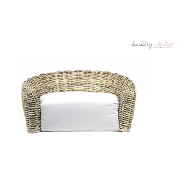 Monte & Co | Designer Pet Lounge Rattan Dog Bed by Barkley & Bella