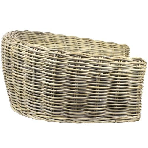Monte & Co | Designer Rattan Round Pet Bed by Barkley & Bella