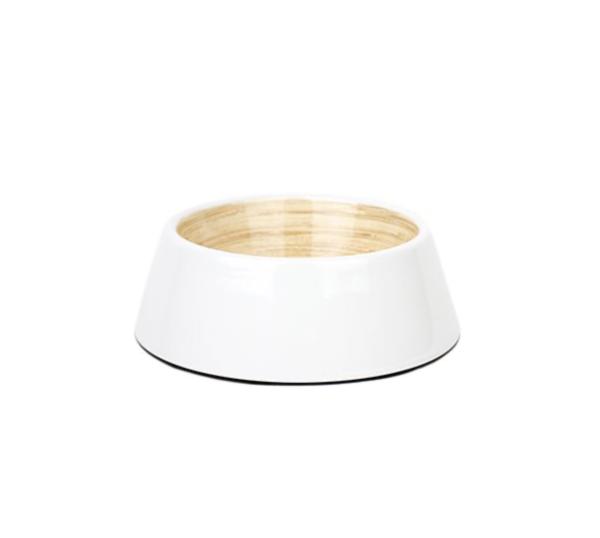 Barkley & Bella White Ceramic Look Dog Bowl