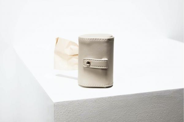 Designer Poop Bag Holder by St Argo   Taupe