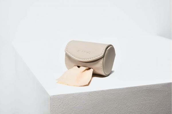 Designer Poop Bag Holder in Taupe   by St Argo Melbourne