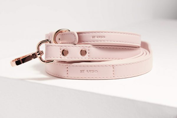 Monte & Co   Designer Pet Lead in Pale Pink by St Argo Melbourne