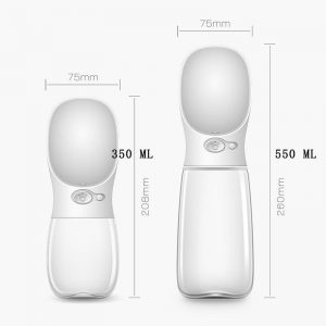 Monte & Co   One-Touch Pet Travel Water Bottle in White   by Huskimo Australia