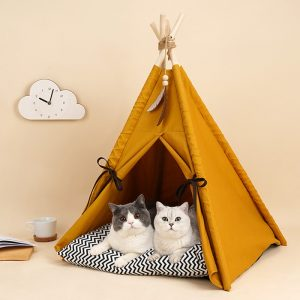 Monte & Co | Mustard Yellow Pet Teepee Dog Cat Bed