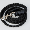 Monte & Co | Braided Plaited Dog Cat Pet Leash Lead in Black | by HGP Luxury Pet Accessories