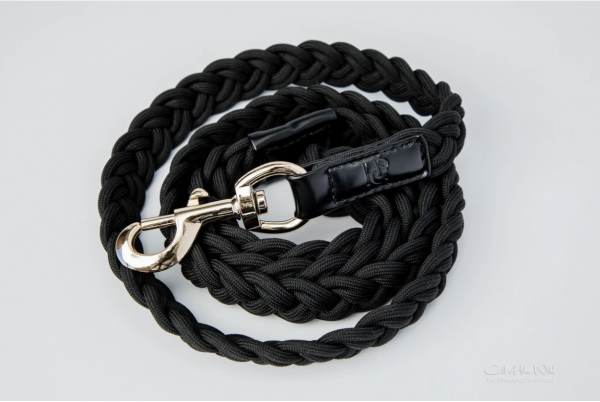 Monte & Co   Braided Plaited Dog Cat Pet Leash Lead in Black   by HGP Luxury Pet Accessories