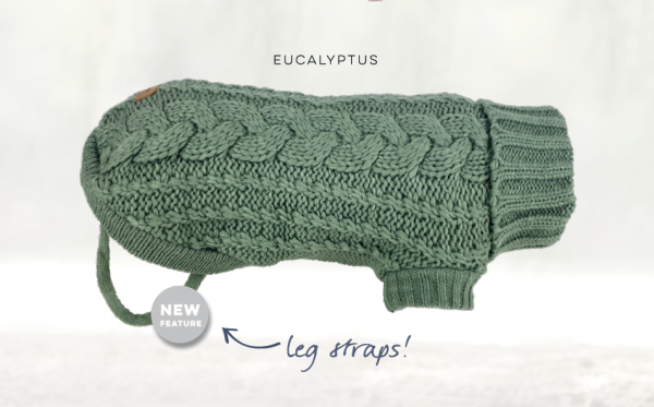 Monte & Co | Designer French Chunky Knit Sweater Jumper in Eucalyptus Green by Huskimo Australia