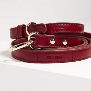 Monte & Co | Designer Pet Dog Cat Collar and Lead Set in Ruby Red | by St Argo Melbourne