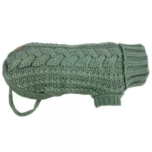 Monte & Co | Luxury Chunky Cable French Knit in Eucalyptus by Huskimo Australia