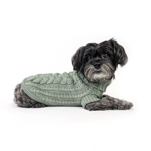 Monte & Co | Luxury French Chunky Knit Sweater Jumper in Eucalyptus Green by Huskimo Australia