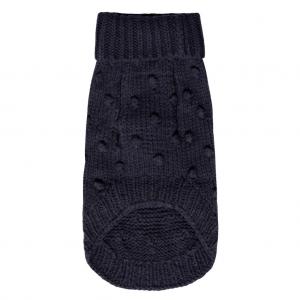 Monte & Co | Luxury Merino Wool Bobble Chunky Knit Sweater in indigo navy by Sebastian Says