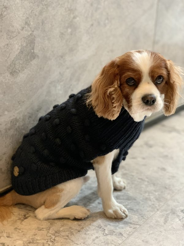 Monte & Co | Luxury Merino Wool Bobble Chunky Knit in Navy Indigo by Sebastian Says