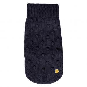 Monte & Co | Luxury merino wool chunky knit sweater in navy blue | by Sebastian Says