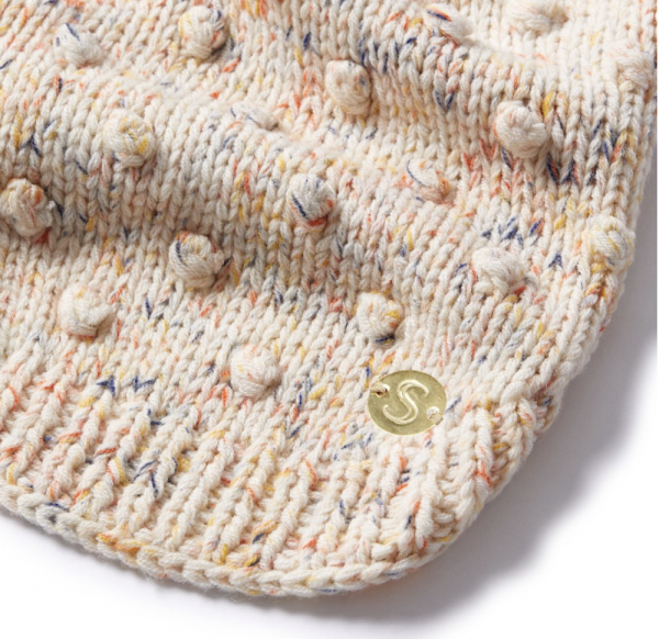 Monte & Co | Merino wool bobble knit dog jumper sweater in Speckle by Sebastian Says (close up)