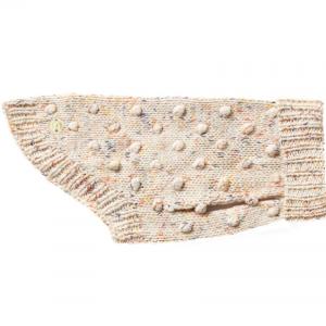 Monte & Co | Merino wool bobble knit dog jumper sweater in Speckle by Sebastian Says (side)