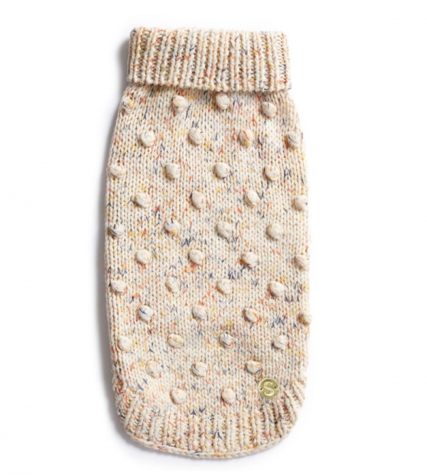 Monte & Co | Merino wool bobble knit dog jumper sweater in Speckle by Sebastian Says (top)