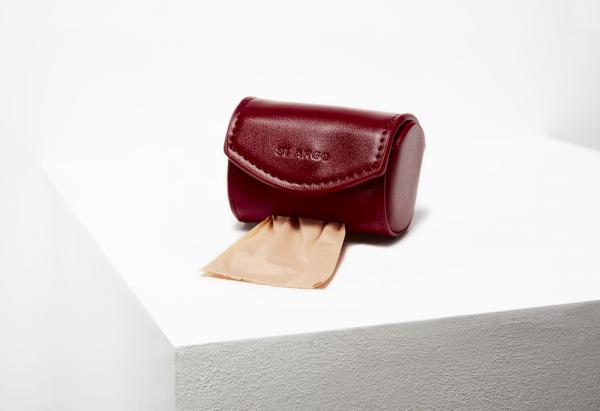 Monte & Co | Ruby Red Designer Poop Bag Holder Vegan Leather by St Argo