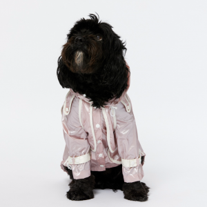 Monte & Co | Designer dog cat pet raincoat trench by Sebastian Says | Pale Pink | Lifestyle