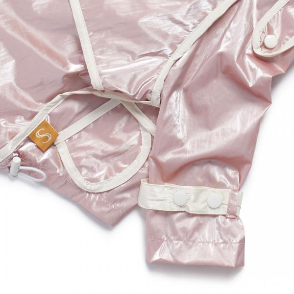 Monte & Co | Designer dog cat pet raincoat trench by Sebastian Says | Soft Pink | Close Up