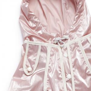 Monte & Co | Designer dog cat pet raincoat trench by Sebastian Says | Soft Pink | Close Up Hood_Neck