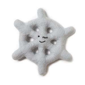 Monte & Co | Designer Pet Dog Wool Toy by Sebastian Says | Ice Blue Grey