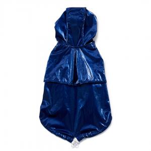 Monte & Co | Designer dog cat pet raincoat by Sebastian Says | Cobalt Blue | Top Profile