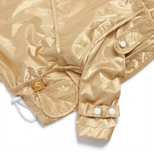 Monte & Co | Designer dog cat pet raincoat trench by Sebastian Says | Gold (Close Up)