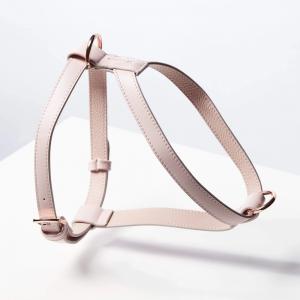 Monte & Co | Designer Dog Cat Vegan Leather Harness by St Argo | Pale Pink